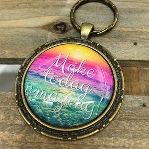 Make today amazing keychain
